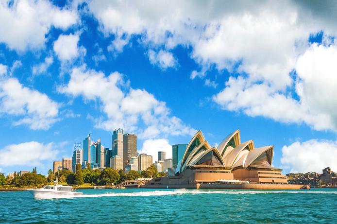 Vue sur l'opéra de Sydney, en Australie.