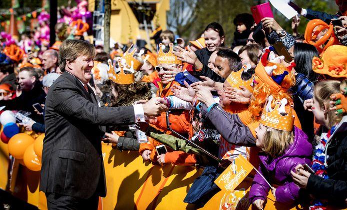TILBURG - Koning Willem-Alexander tijdens Koningsdag in Tilburg in 2017