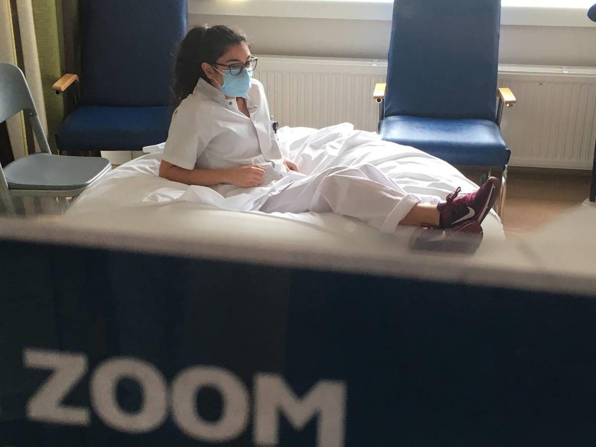 """Les espaces """"zoom"""" permettent au personnel hospitalier de souffler un peu."""