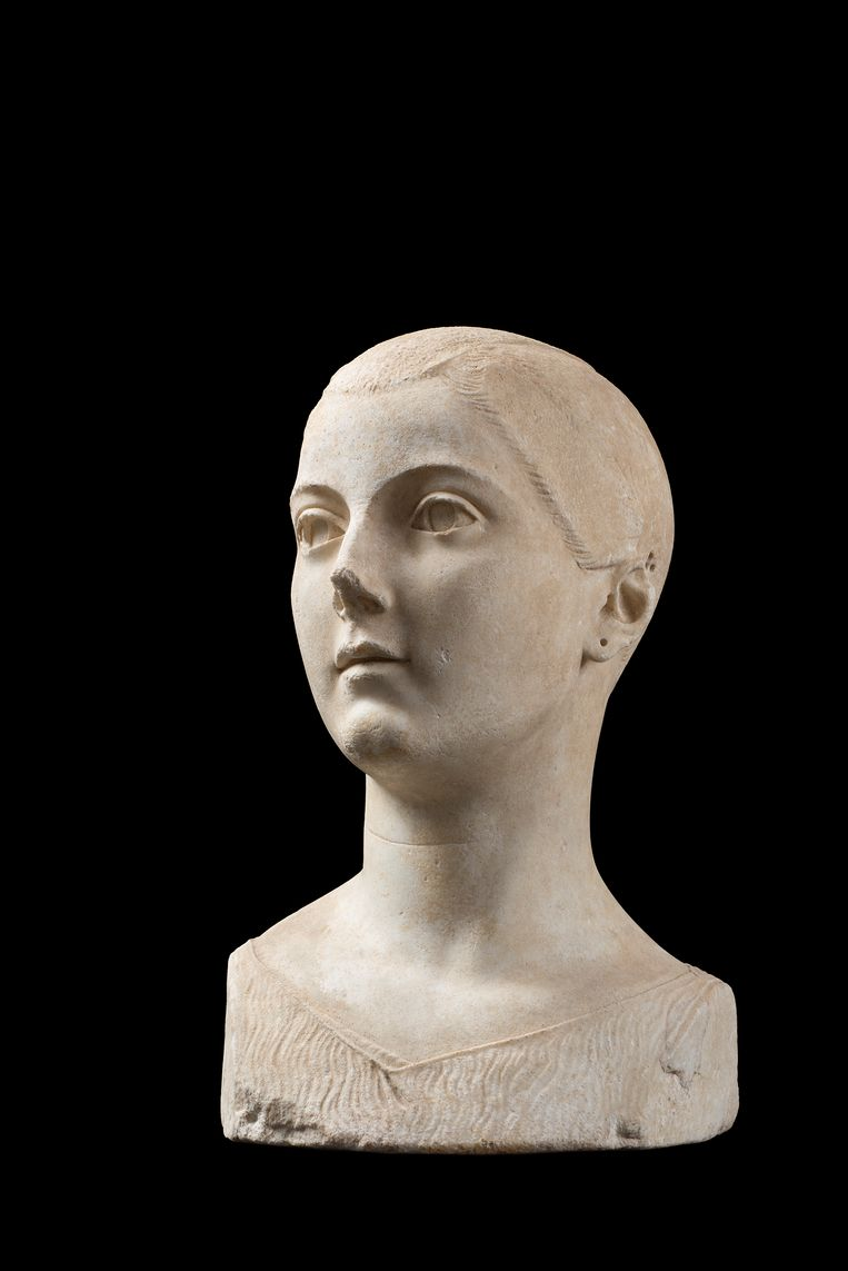 De marmeren buste 'Meisje van Vulci'. Beeld FondazioneTorlonia