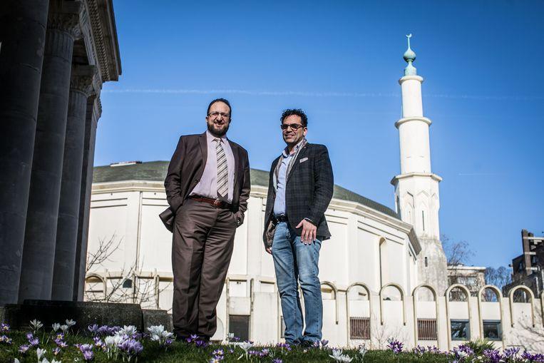 Nordine Taouil en Brahim Laytouss gaan de Grote Moskee uitbaten.  Beeld BAS BOGAERTS
