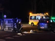 Gewonde bij aanrijding in Eibergen, auto gekanteld