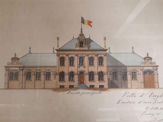 Het ontwerp dat model stond voor de school Avé Maria.