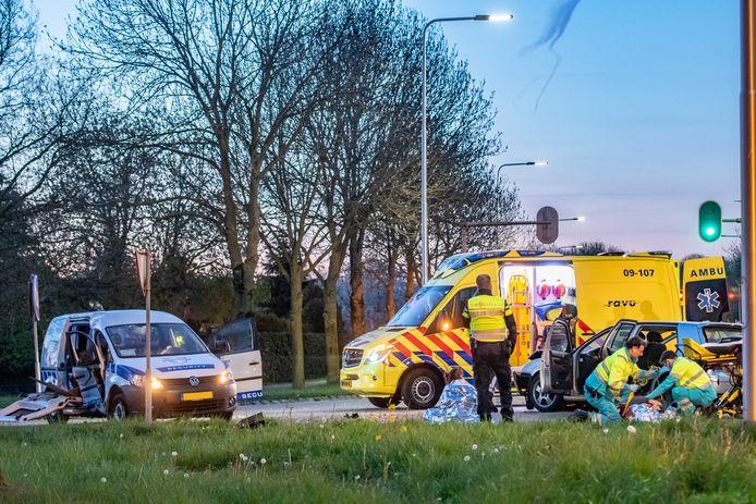 Ongeval Houten, meerdere gewonden