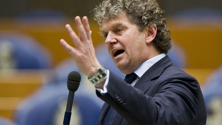 Jacques Monasch van de PvdA tijdens het spoeddebat in de Tweede Kamer. Beeld anp
