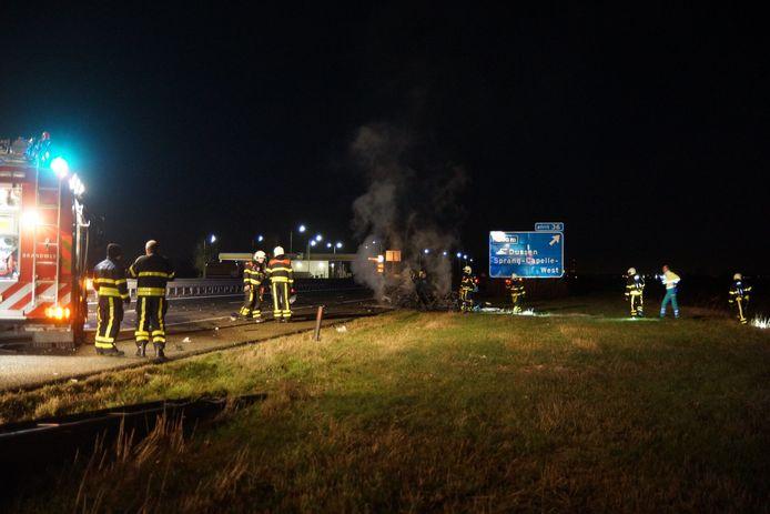 Het ongeluk gebeurde op de A59 bij Sprang-Capelle.