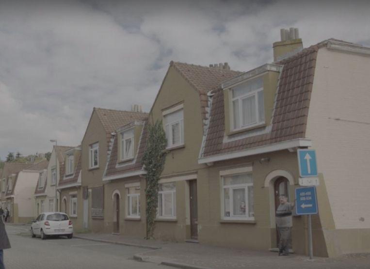 De sociale woningen in de Sint-Bernadettewijk in Sint-Amandsberg.
