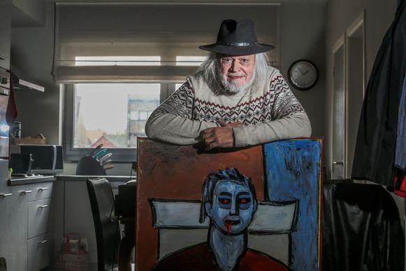 Jean-Pierre Van Rossem smijt zich tegenwoordig op de schilderkunst.
