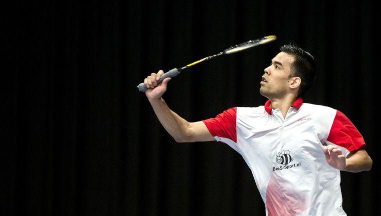 Eric Pang tijdens de halve finale van het NK tegen Mark Caljouw. `De Olympische Spelen zijn nog haalbaar.' Beeld null