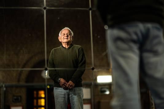 Harry Kreijtz (85) in zijn dojo in Arnhem.
