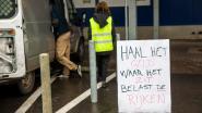 Gele hesjes voeren actie aan IKEA Hasselt