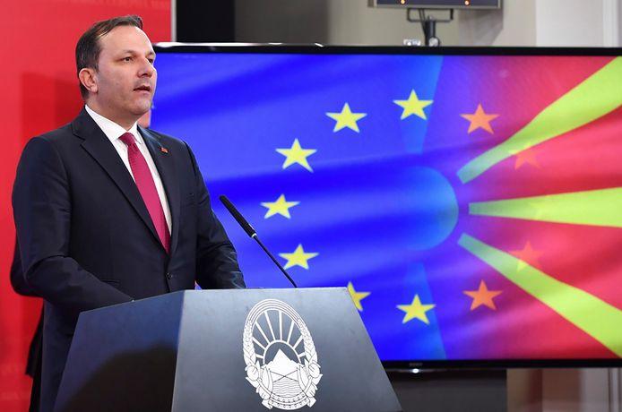 De Noord-Macedonische premier Oliver Spasovski.