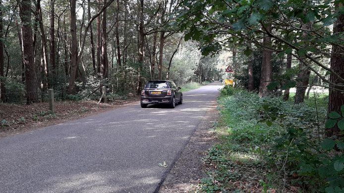 De Horloseweg op de grens van Harderwijk en Ermelo. Nu er weer nieuwe woningen komen aan de Harderwijkse kant van de grens zouden er op Eremeloos grondgebied verkeersremmende maatregelen genomen moeten worden om de das te beschermen.
