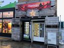 De fruitautomaat aan het bedrijf van Vanhellemont.