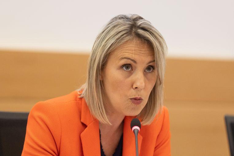 Minister van Defensie Ludivine Dedonder (PS) Beeld BELGA