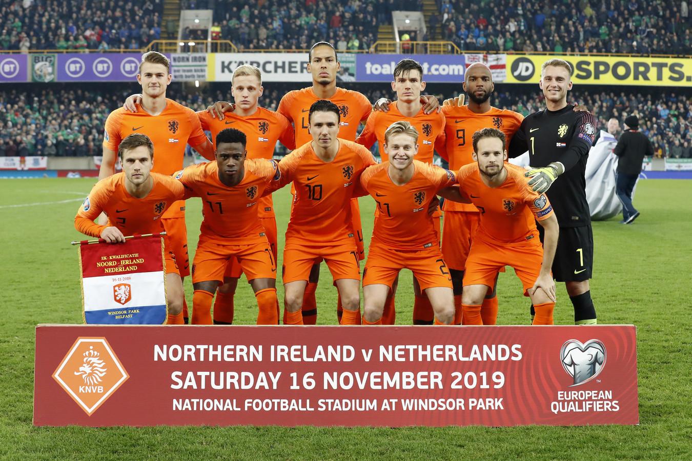 Oranje plaatste zich op 16 november voor het EK 2020.