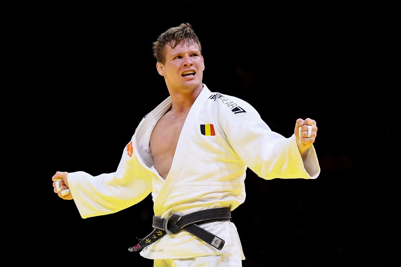 Judoka Matthias Casse na zijn wereldtitel in Boedapest, vorige maand. Beeld BELGAIMAGE