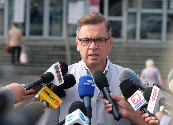 Pawel Gruenpeter, de behandelend arts van Fabio Jakobsen.