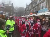 Kerstmannen rennen voor het goede doel door Oosterbeek