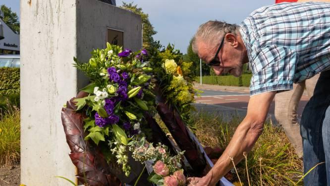 Ammerzoden rouwt; kransen en bloemen bij borstbeeld van motorcoureur Boet van Dulmen