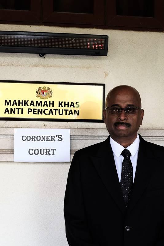 De Maleisische topadvocaat Sankara Nair.
