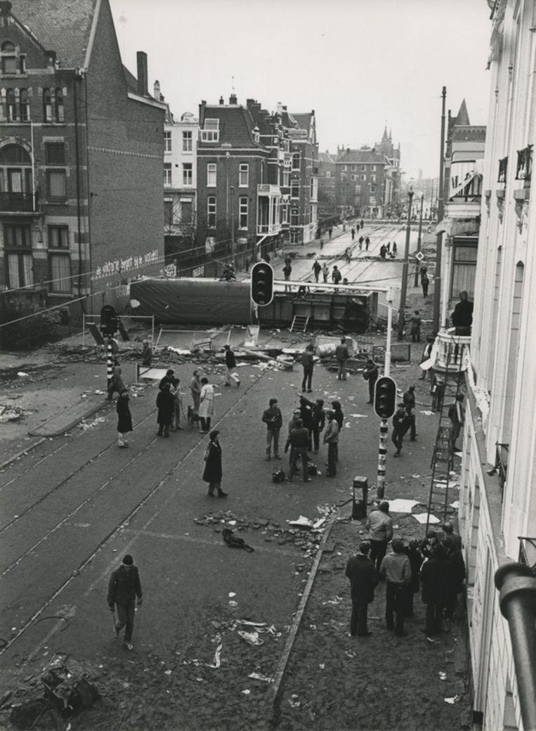 Rellen in de Vondelstraat in 1980. Archieffoto ANP    <!-- corrected --> <!-- [ START ITEMS ] --> Beeld