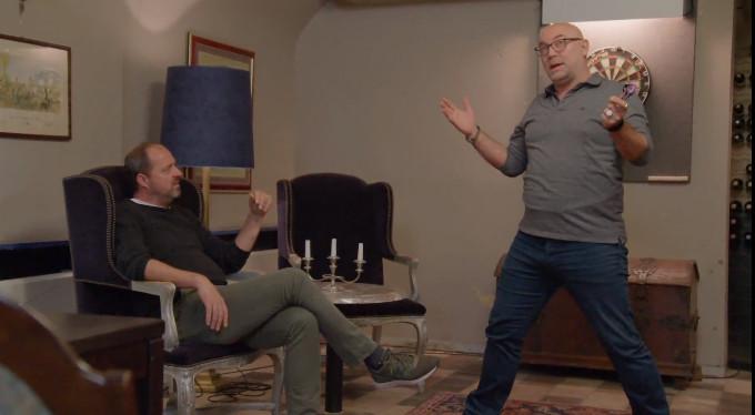 Kees Boot en Loek Peters in discussie