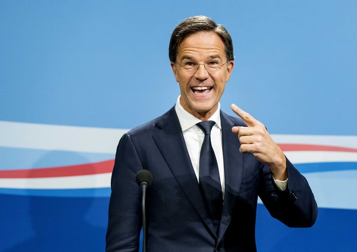 Minister-president Mark Rutte geeft een persconferentie na afloop van de wekelijkse ministerraad.