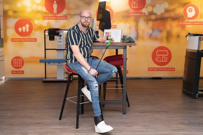 Justin van der Mast houdt niet van het etiketje 'gehandicapt' dat hij opgeplakt kreeg en legde zich er niet bij neer.