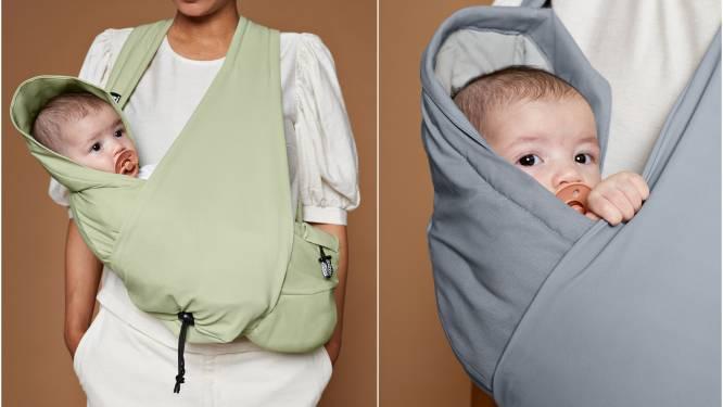 Met nieuwe Belgische draagzak 'izzzi' draag je je baby op een innovatieve manier