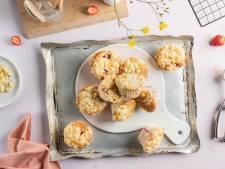 Wat Eten We Vandaag: Aardbei crumble muffins
