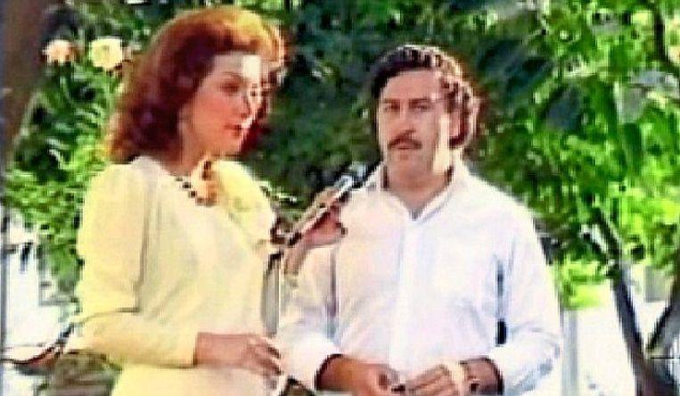 Virginia Vallejo en Pablo Escobar.  Beeld RV