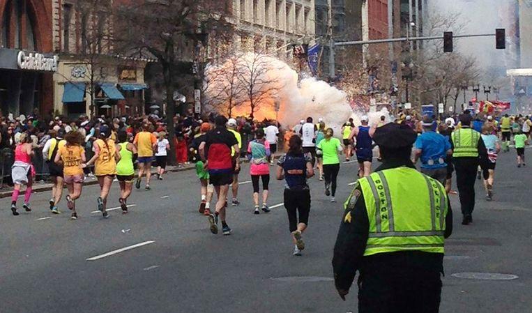 Een van de explosies tijdens de Boston Marathon van 2013. Beeld REUTERS