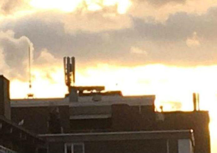 De testmast in Scheveningen