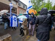 Conflit israélo-palestinien: plusieurs centaines de personnes manifestent leur soutien devant l'ambassade d'Israël