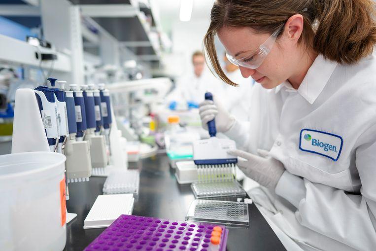 Laboratorium van Biogen, de farmaceut die het Alzheimermedicijn adacadumab heeft ontwikkeld. Beeld EPA