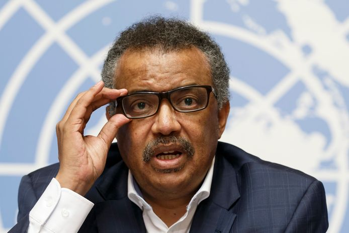 Dokter Tedros Adhanom Ghebreyesus, directeur-generaal van de WHO.
