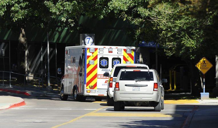 Op 15 oktober werd Amber Vinson naar een speciaal ziekenhuis in Atlanta gebracht om geïsoleerd te worden. Beeld anp