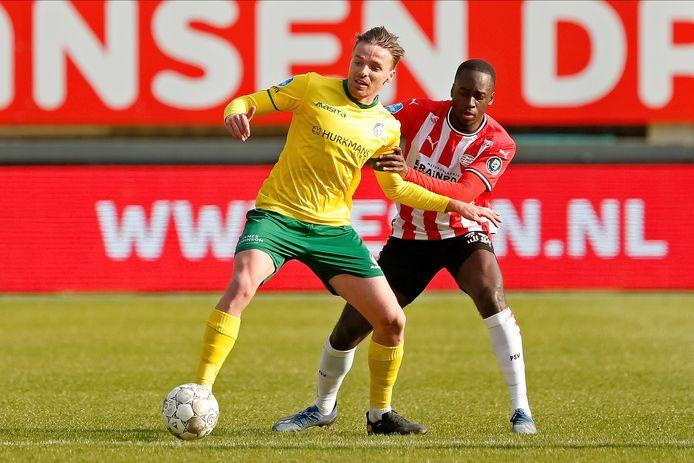 Jordan Teze speelde een degelijke wedstrijd tegen Fortuna Sittard en gaf nog de voorassist op de 0-1 van Eran Zahavi.