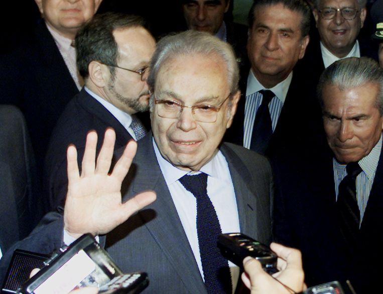 Javier Perez de Cuellar in 2000. Beeld REUTERS