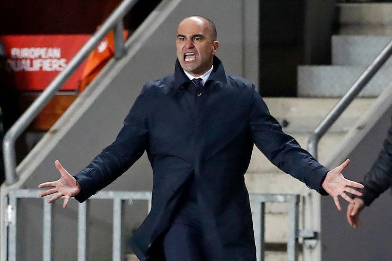 Roberto Martínez was niet blij met zijn Duivels. Beeld AP