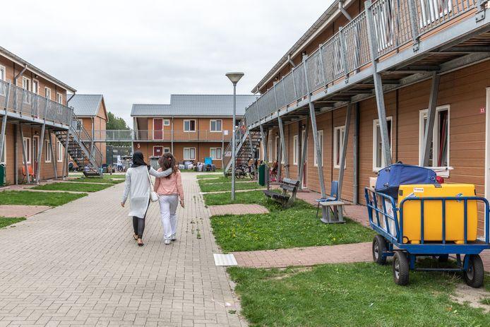 Foto van het inmiddels afgebroken asielzoekerscentrum dat in Goes was gevestigd tussen 2010 en 2019.