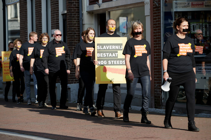 Sfeerbeeld van de op 14 oktober 2017 gehouden Walk for Freedom in Zutphen.