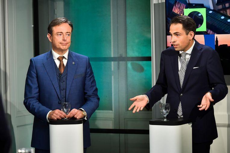 Bart De Wever (N-VA) en Tom Van Grieken (Vlaams Belang Beeld Florian Van Eenoo