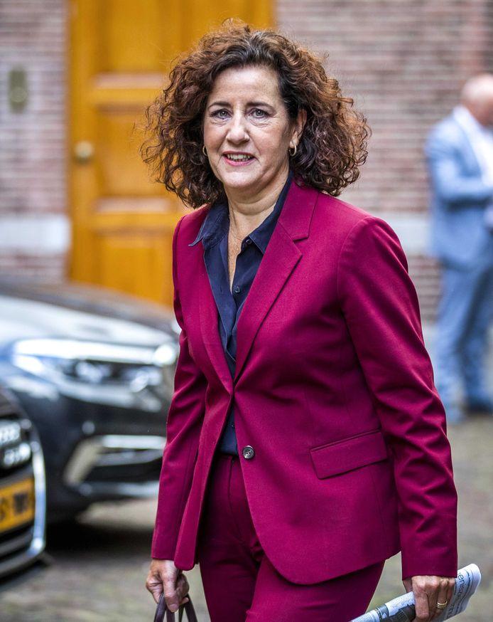 Minister Ingrid van Engelshoven (Cultuur) op het Binnenhof voor de wekelijkse ministerraad.