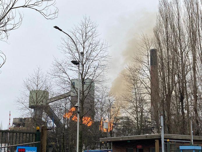 De uitval zorgde voor een hevige brand.