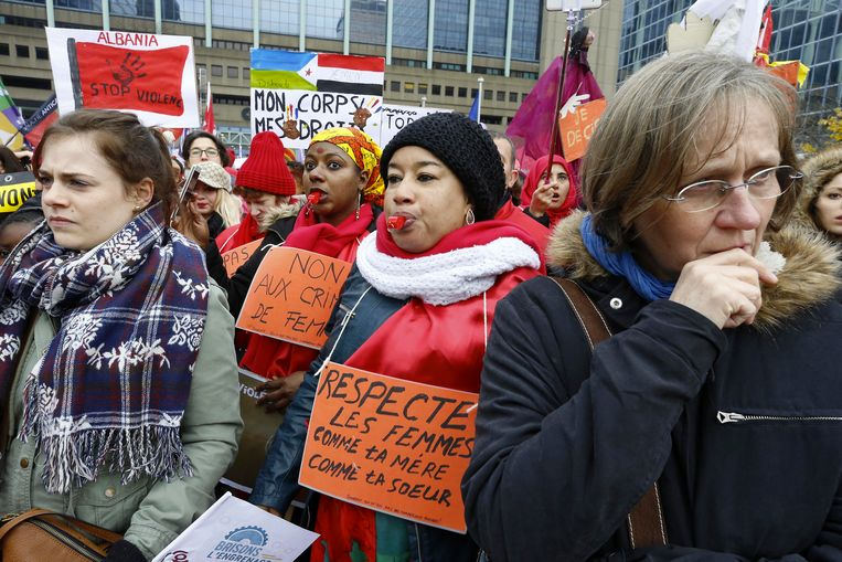 De demonstranten willen dat politici hun woorden omzetten in beleidsdaden. Beeld BELGA