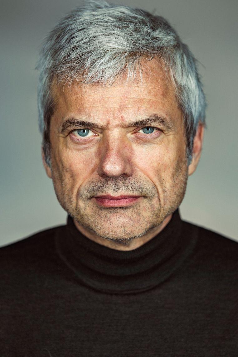 Jan Leyers, portret, studio, antwerpen, de nachtwacht, canvas Beeld Jef Boes