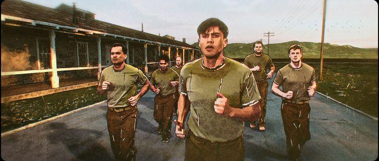 De rotoscope-methode, waarbij de actie van acteurs wordt overgetekend, leverde in een serie als 'Undone' op Amazon iets heel bijzonders op, maar voelt in 'The Liberator' toch meer als een budgetkwestie. Beeld Netflix