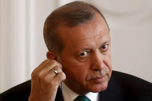 De Turkse president Tayyip Erdogan.